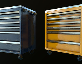 3D model low-poly Tool Box