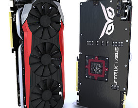 3D model Asus Strix GTX 980 Ti Bonus SLI bridges