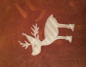 Christmas reindeer ornament 3D printable model