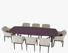 Giorgetti blade table and giorgetti normal chair 3D