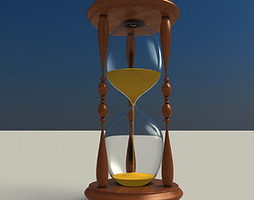 3D model clock hourglass glass