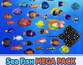 3D model Sea Fish MEGA PACK