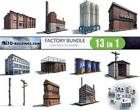 Factory Building BUNDLE 3D model