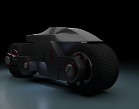 3D model animated Stealth cycle