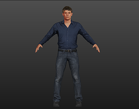 Casual Man ready for Animation 3D asset