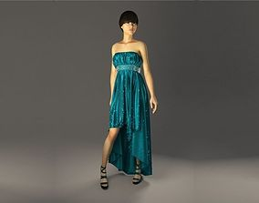 Evening Dress in 3DS Max - Marvlous Designer - vray