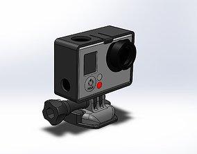 3D print model GoPro Camera flat mount