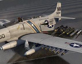 Douglas A-1H or AD-6 Skyraider 3D
