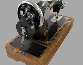 3D model realtime Old Soviet sewing machine Podolsk 2M