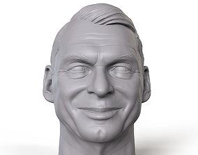 Vince McMahon 3D printable portrait sculpture