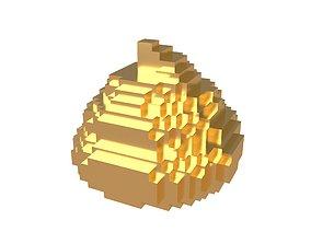 3D model Pixel Pile of Poo v1 005