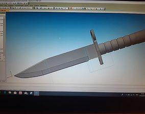 3D printable model knife m9