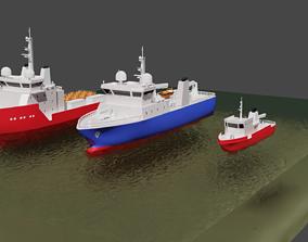 3D Set of schematic vessels