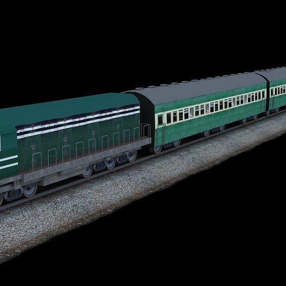 Pakistan Low poly Train