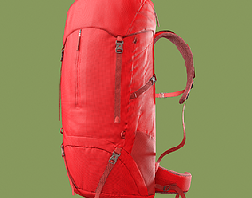 Red Hiking Backpack 3D asset