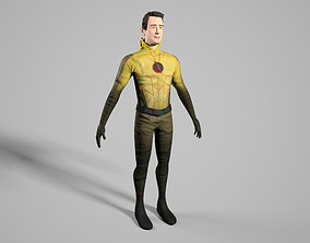 realtime Reverse Flash Tom Cavanagh Stylized 3D Model
