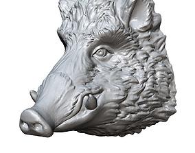 boar head sculpture 3D printable model