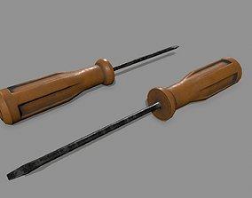 screwdriver 3D asset game-ready hand