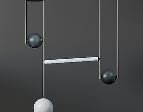 3D Ladies and Gentlemen Equalizer - 4 Piece Pendant