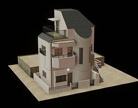 Modern japanese building 3D model