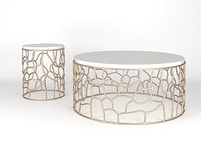3D model Squire Cocktail Table and End Table
