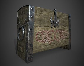 Viking chest outdoor 3D