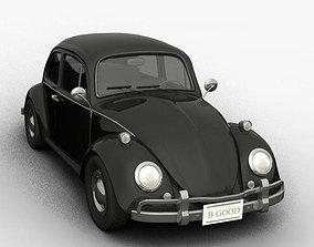 3D asset realtime volkswagen beetle