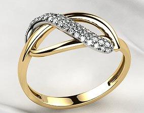 3D print model Rhodium Plating Pave Gems Gold Ring