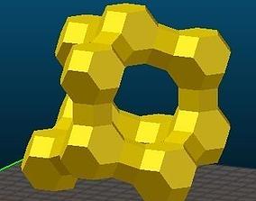 3D print model FAU-type Zeolite