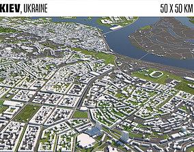 3D model Kiev Ukraine 50x50km