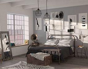 Bedroom bedroom archviz 3D