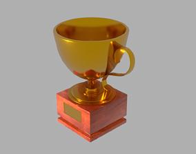 Golden Trophy 3D model