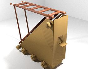 Medieval War Machine - Siege Ladder 3D model