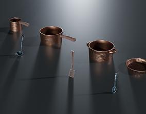Stylized Cooking Set 3D asset