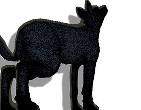 Animated Wolf Rig - Version 1 3D model