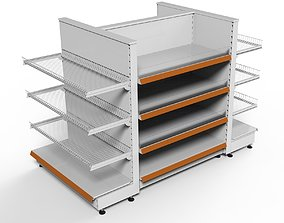 Shelving system GONDOLA H125 cm 3D model