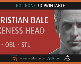 Christian Bale Head - 3D Printable
