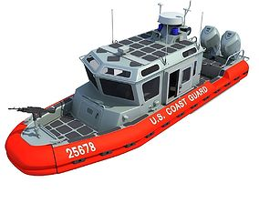 Boat of Coast Guard Defender 3D