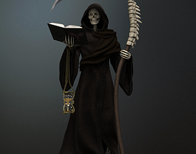 3D Grim Reaper high poly