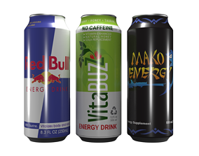 3D model Energy Drink Cans