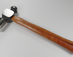 tool Hammer 3d Model low-poly