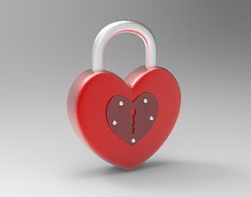 Heart Shape Padlock Model games-toys