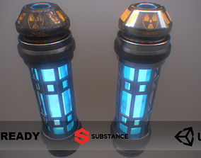 PBR Retro Sci-Fi Energy Cell UPDATED VERSION 3D model