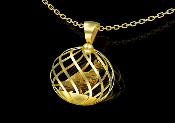 Dove Pendant jewelry Gold 3D print model