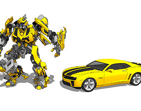 Sketchup modeling Bumblebee and komaro car model