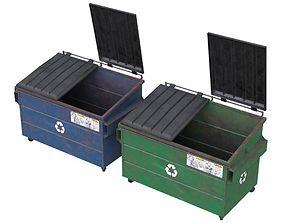 Dumpster 1 3D asset