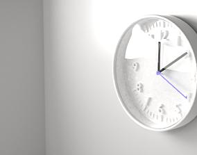 White Clock 1 3D model