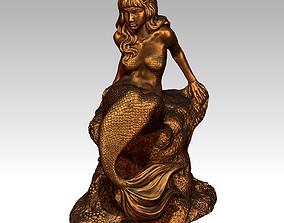 3D printable model Mermaid woman