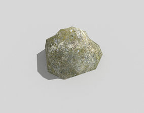 3D model game-ready low poly rock