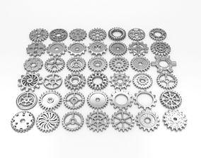 3D model 42 gears